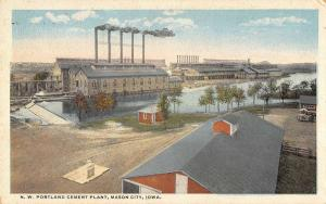 Mason City Iowa Portland Cement Plant Factory Antique Postcard K10332