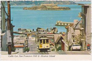 CABLE CAR ON SAN FRANCISCO HILL - ALCATRAZ - 558