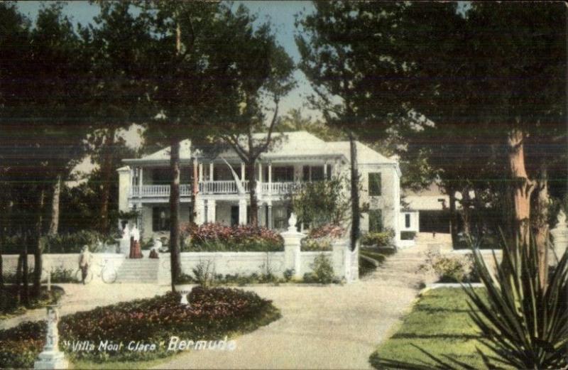Bermuda Villa Mont Clare c1910 Postcard