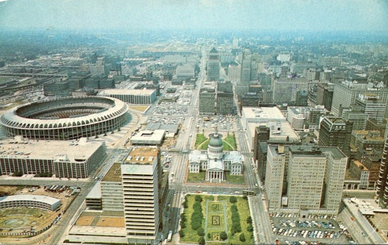 Missouri St Louis Old Courthouse Old Cathedral Civic Center & Bush Memorial S...