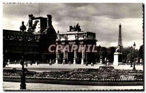 Modern Postcard Paris Le Carrousel Louvre Eiffel Tower