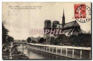 Postcard The Old Paris Apse of Notre Dame