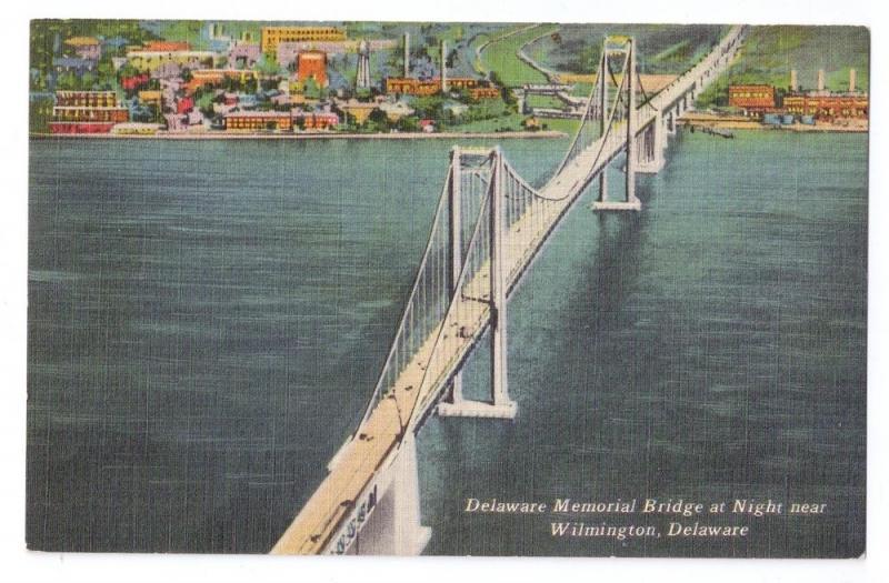 Aerial View Delaware Memorial Bridge Wilmington DE Linen