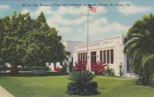Florida St Cloud Woman's Club and Veterans' Memorial Library Curteich
