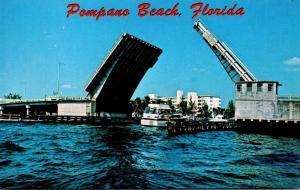 Florida Pompano Beach Bascule Bridge Over Inland Water Way