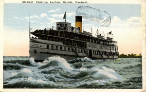 Richelieu & Ontario Navigation Co. - Steamer in Lachine Rapids