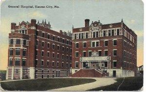 US. Used. Kansas City, Missouri. General Hospital. Mailed 1913.