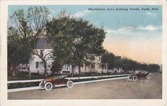 Nebraska York Blackburn Ave Looking North