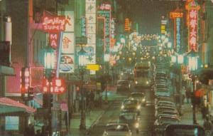 California San Francisco Chinatown At Night Street Scene