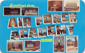 Colorado Springs~Large Letter Chrome U S Air Force Academy~1969
