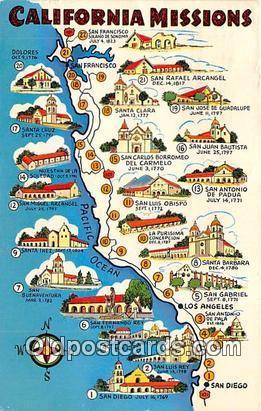 USA Postcard Post Card California Missions