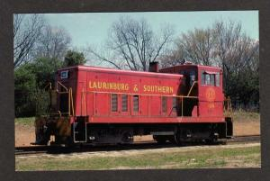 NC LAURINBURG & Southern Railroad Train Engine NORTH CAROLINA Postcard