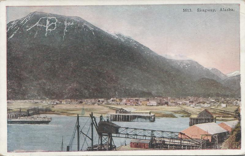 View of Skagway, Alaska, Early Postcard, Unused