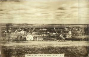 Hantsport Nova Scotia Birdseye View c1920 Real Photo Postcard