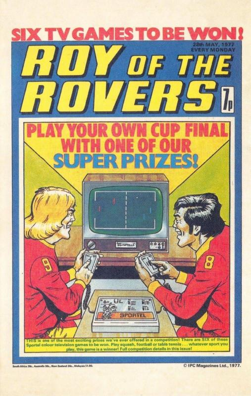 Postcard Roy of The Rovers Melchester Roy Race Comic Strip Cover from 1977