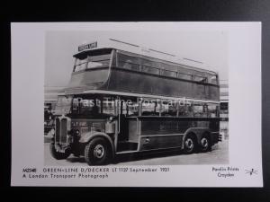 Bus TROLLEYBUS DOUBLE DECKER GREEN LINE 1137 Pamlin Print RP Postcard M2348
