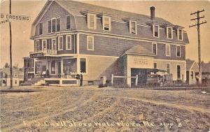 Waterboro ME F. S. Carll Store and Garage RPPC Postcard