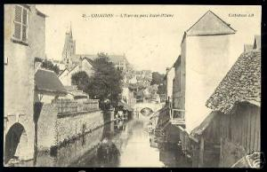 france, CHARTRES, L'Eure au Pont Saint-Hilaire (1910)