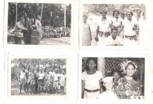 7 Photographs, Southern Pacific Islanders & USA troops , 1940s