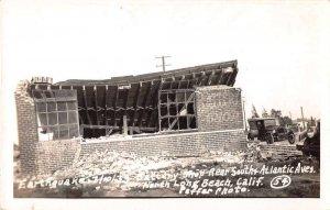 Long Beach California Battery Shop Earthquake Damage Real Photo PC JJ649036