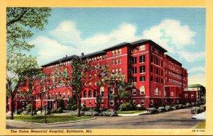 Maryland Baltimore Union Memorial Hospital Curteich