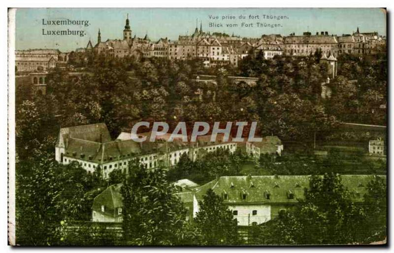 VINTAGE POSTCARD Luxembourg Seen from of Strong Thungen