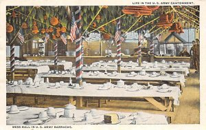 Mess Hall in the Barracks US Army Military Unused