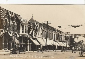 RP : PRINCETON , Illinois , 1911 ; Main Street Decorated for July 4th : #3