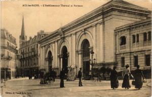 CPA   Aix-les-Bains - L'Etablissement Thermal et Porteurs   (438271)