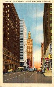 Oklahoma Tulsa Boston Avenue Looking North 1951 Curteich