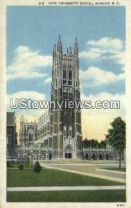 Duke University Chapel in Durham, North Carolina
