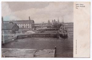 1901-1907 Norfolk VA Virginia US U.S. Navy Yard Boats Harbor RARE UDB Postcard