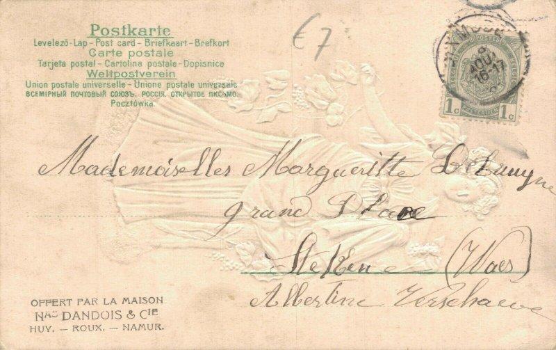 Art Nouveau Women Embossed Kirchner Style Postcard 06.55