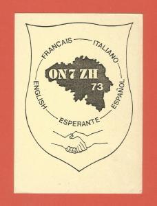 QSL AMATEUR RADIO CARD – ESPERANTE STATION – HOVES, BELGIUM – 1988