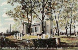 RICHMOND, Virginia, 1900-10s; St. John's Church, where Patrick Henry gave speech