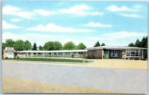 1940s Quitman, Miss. Postcard ANDONNA MOTEL Highway 45 Roadside KROPP Linen