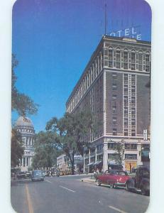 Pre-1980 SHOPS ALONG STREET AT LORRAIN HOTEL Madison Wisconsin WI F7007