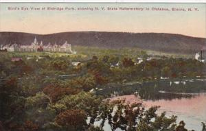 New York Elmira Birds Eye View Of Eldridge Park With New York State Reformato...