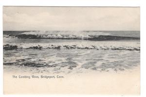 CT Bridgeport Connecticut The Combing Wave Litho Vintage UDB Postcard