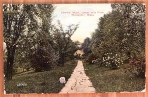 Lover's Walk, Green Hill park, Worcester, Mass 1915 Superior Quality 65320