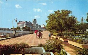 Singapore Queen Elizabeth Walk Promenade River Postcard