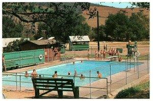 Swimming Pool at Green Oak Ranch Boys Camp Vista, California CA Postcard H-2086