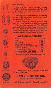 Harry Klitzner Co Advertising 1945