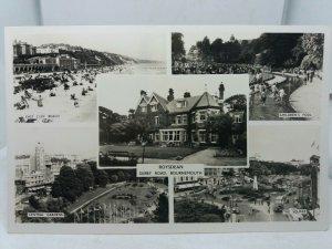 Vintage Multiview Postcard Roysdean Derby Rd Bournemouth Childrens Pool Beach Et