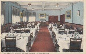 SHAMOKIN , Pennsylvania , 1910s ; Dining Room , Graemar Hotel