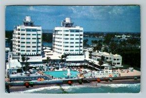 Miami FL- Florida, The Fabulous Sherry Frontenac, Miami Beach, Chrome Postcard