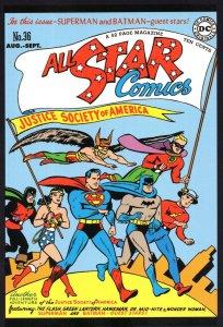 Justice Society Of America Wonder Woman All Star Comics Book Postcard