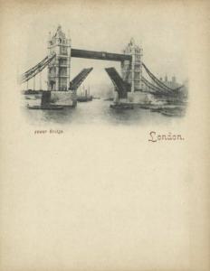 london, Tower Bridge (1899) Court Card