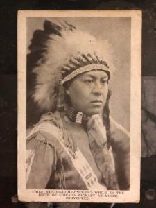 Mint RPPC Real Picture Postcard Native American Indian Chief Sailing Home Once