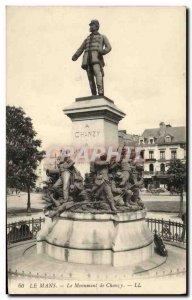Old Postcard Le Mans Monument Chanzy Militaria